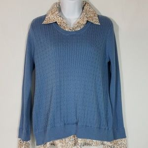 Maternity Tops - Womens Maternity Sweater Blue Size M  A108